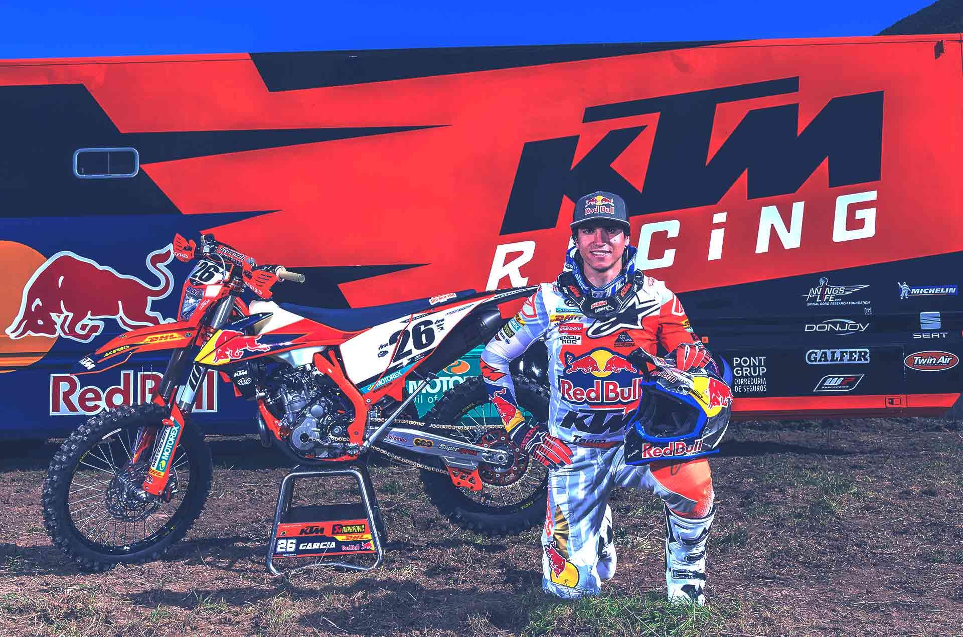 Josep Garcia 26 Enduro Ktm Rider Red Bull